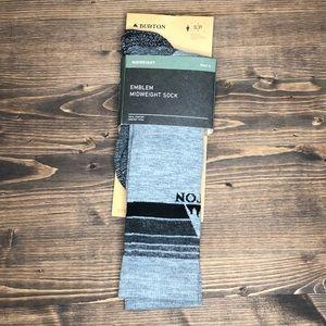 Burton Men's Hiking Midweight Socks Gray Long NWT